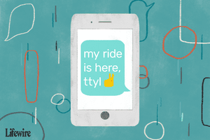 An illustration of 'ttyl' used in conversation on a mobile device.