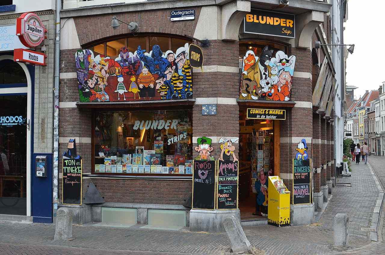 Comic book store in Utrecht, Netherlands