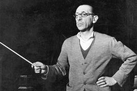 Igor Stravinsky conducting in 1920