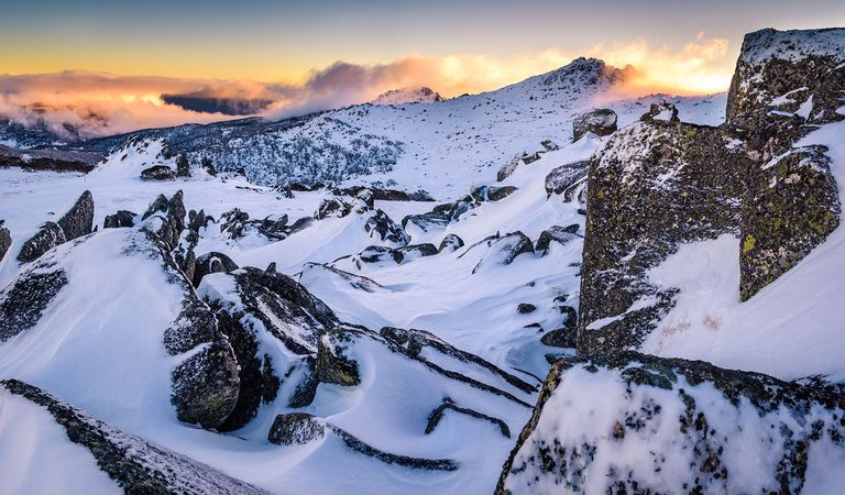 Winter Sunset at the Highest Australian Mountain