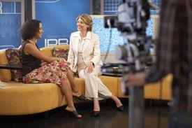 Presenters in Television Studio