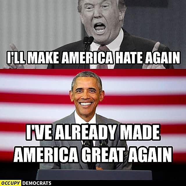 Making America Great Agan Trump Obama