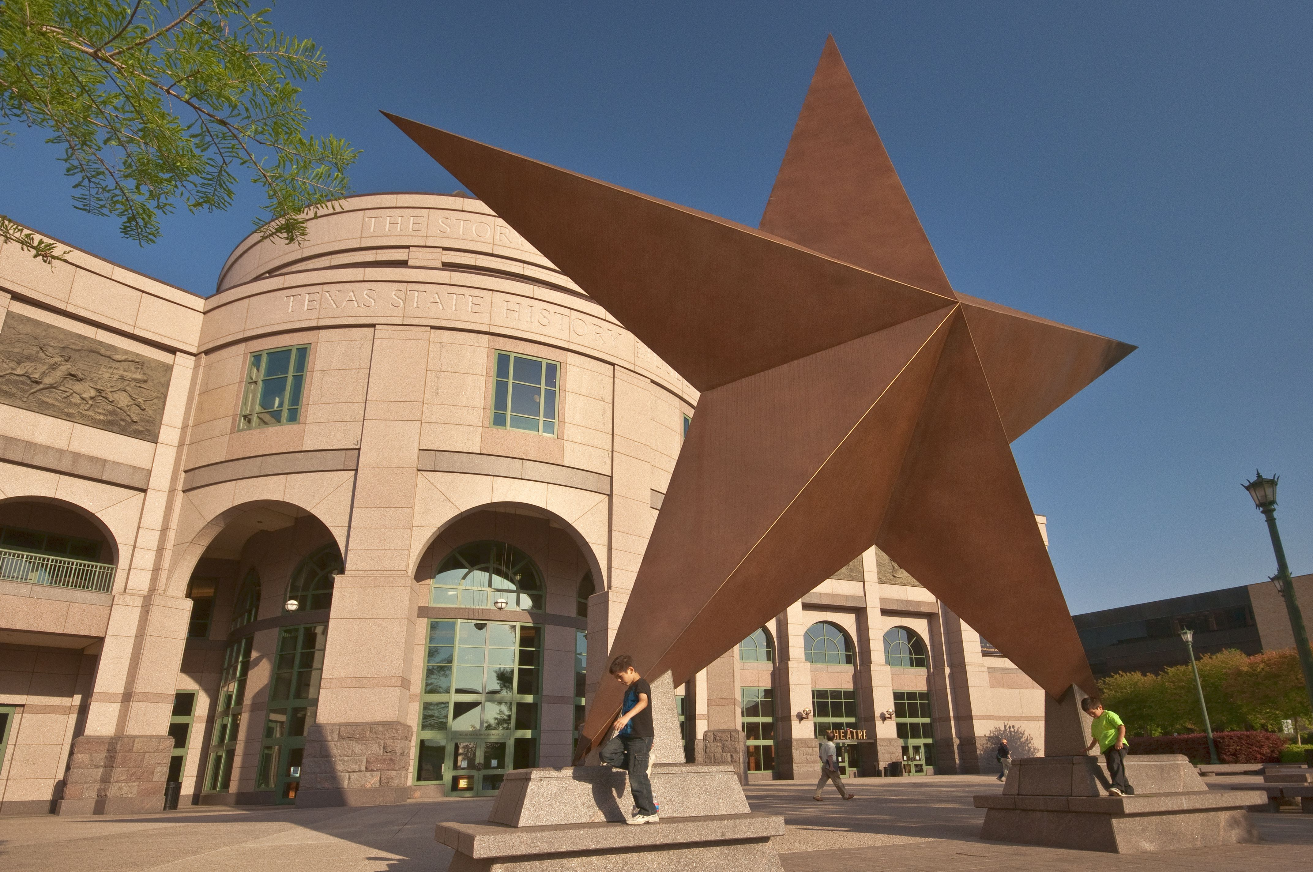 Huge 'Lone Star' in front of Bob Bullock Texas State History Museum.