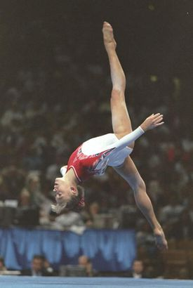 Olympic gymnast Jaycie Phelps at the 1996 Olympic Trials