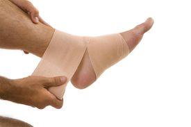 Orthopedic wrap on ankle
