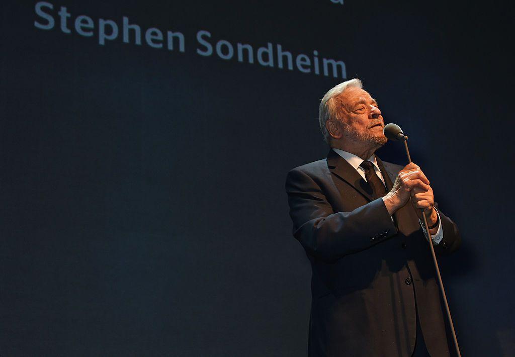 Stephen Sondheim accepts The Lebedev Award at The London Evening Standard Theatre Awards