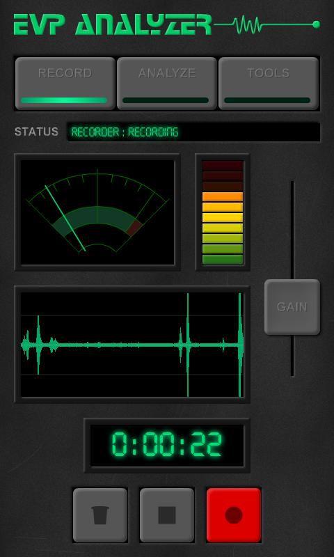 Ghost EVP Analyzer app