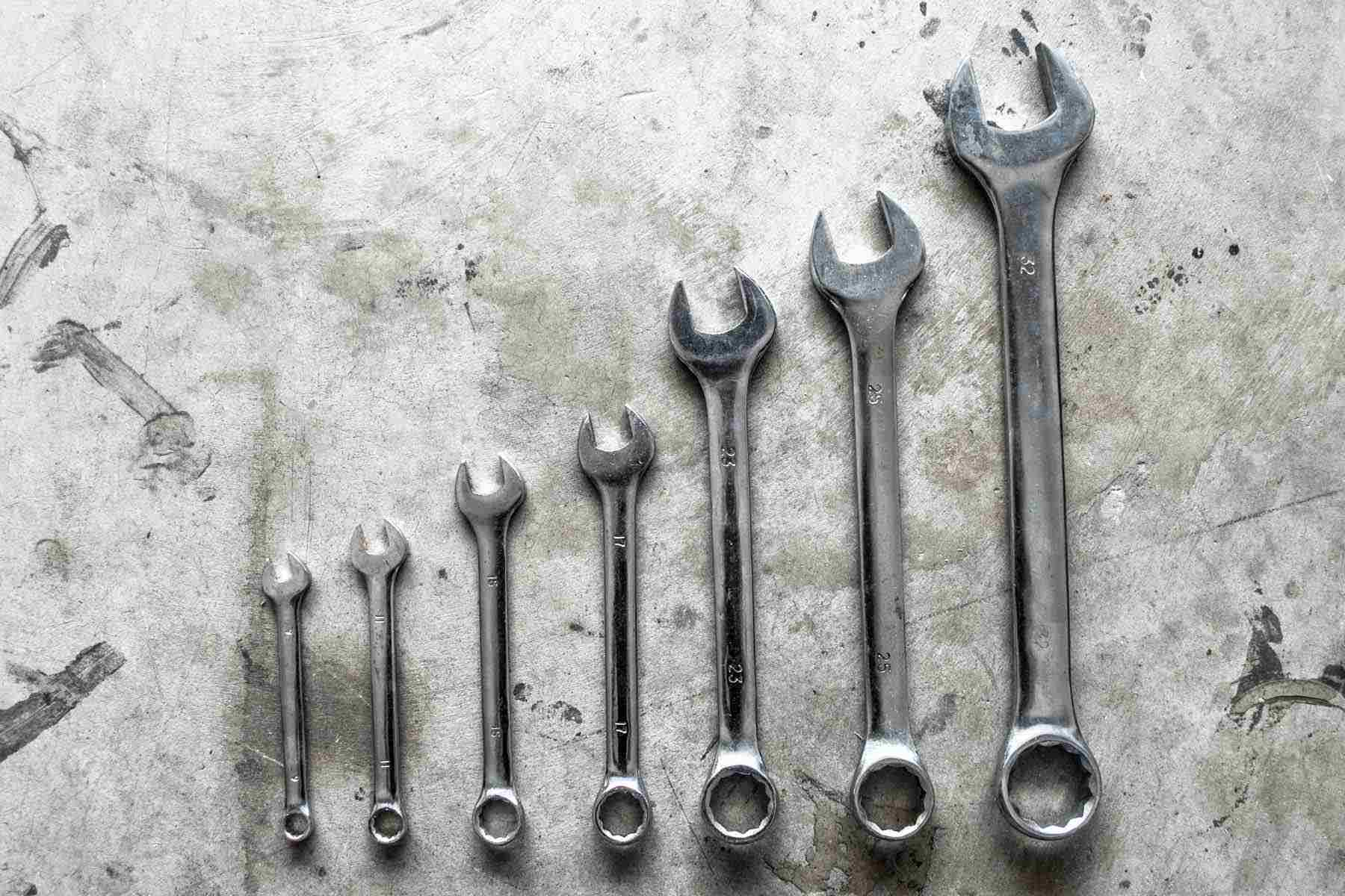 Open end wrenches.