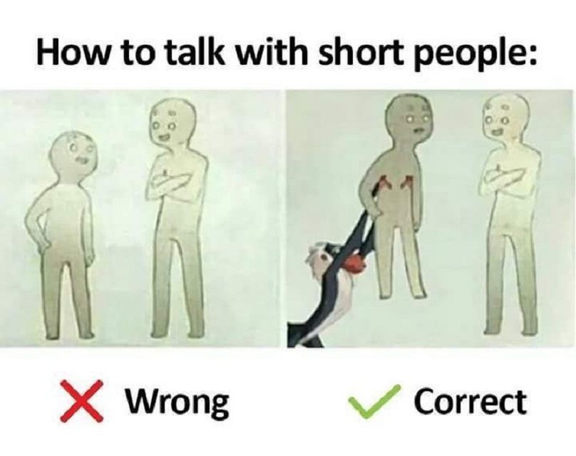 how to talk to short people comic