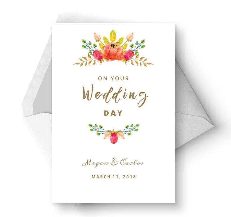 A floral wedding congrats card
