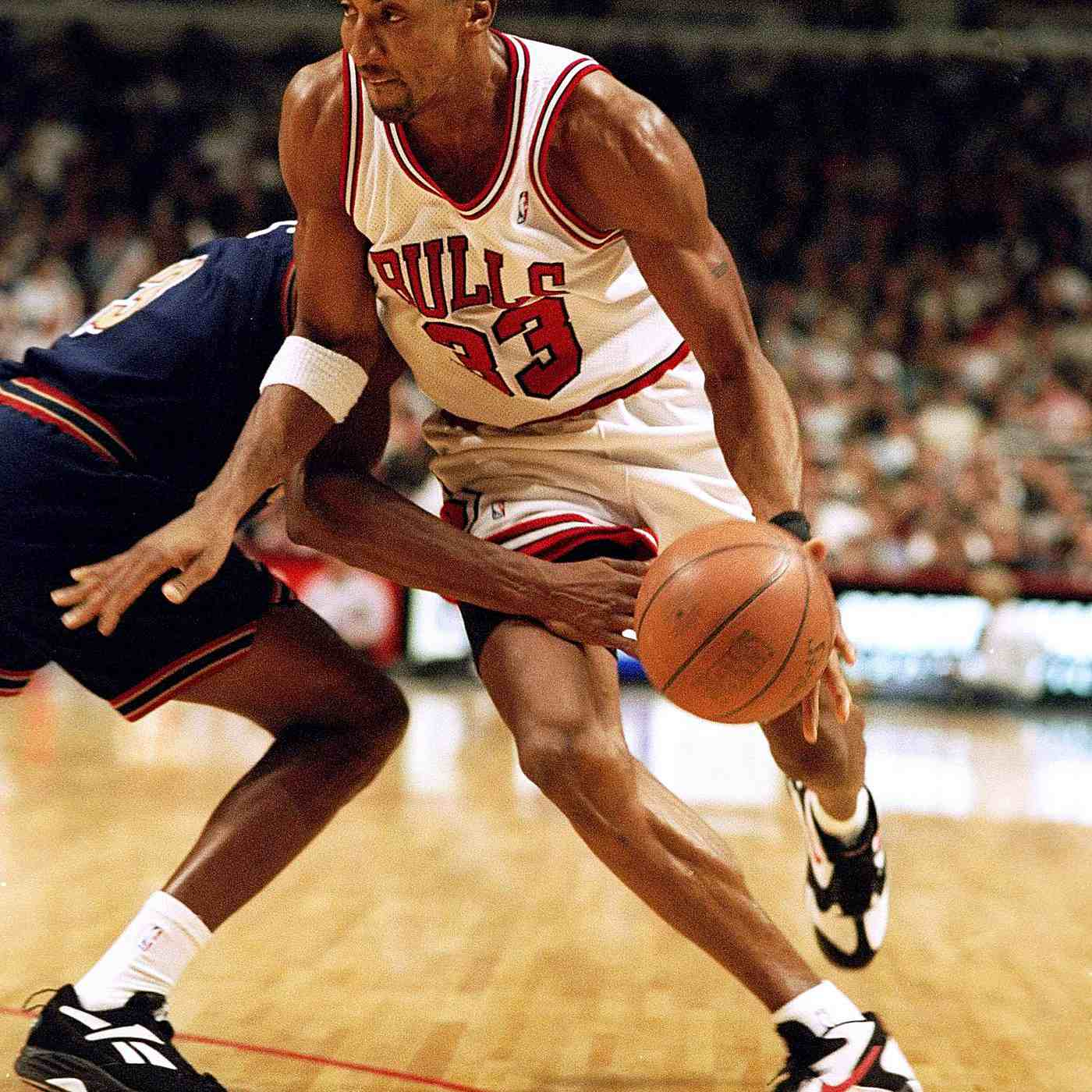 Scottie Pippen wearing Nike Air Up PE