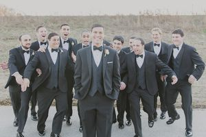 Don't leave your groomsmen out of the tuxedo process.