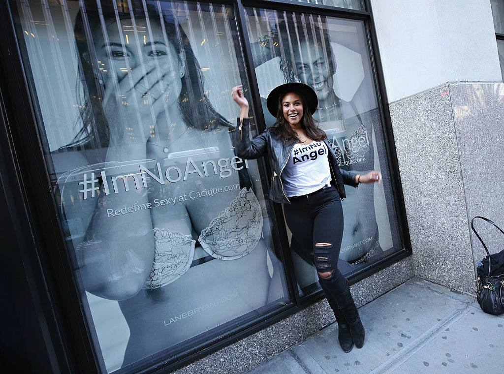 Model Marquita Pring attends as Lane Bryant celebrates the launch of their campaign #ImNoAngel on April 6, 2015 in New York City