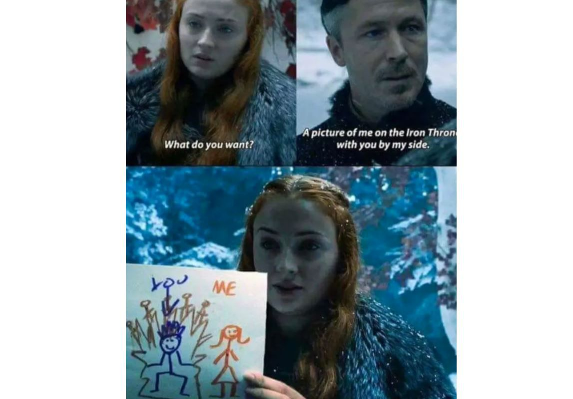Sansa and littlefinger meme