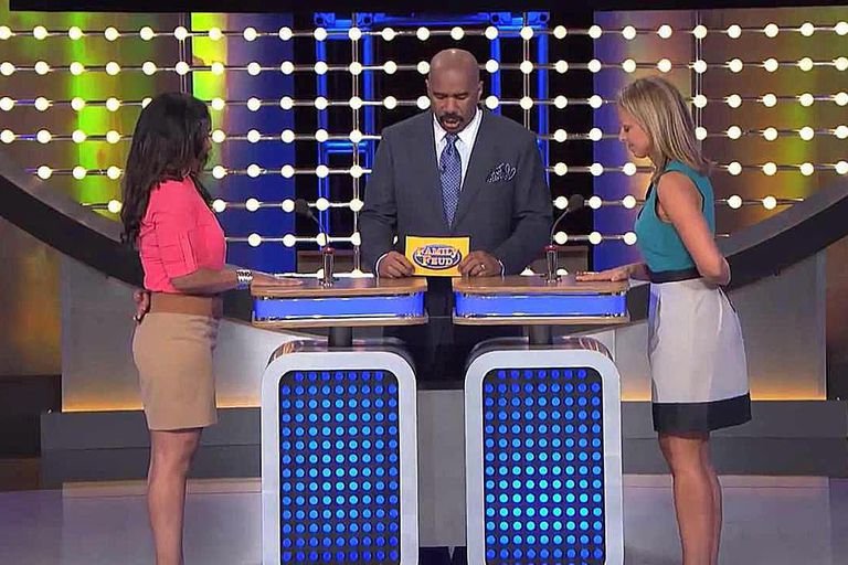 Steve Harvey hosting Family Feud