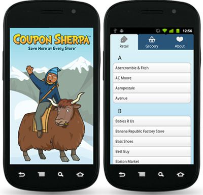 Coupon Sherpa Mobile Coupons for iPhones