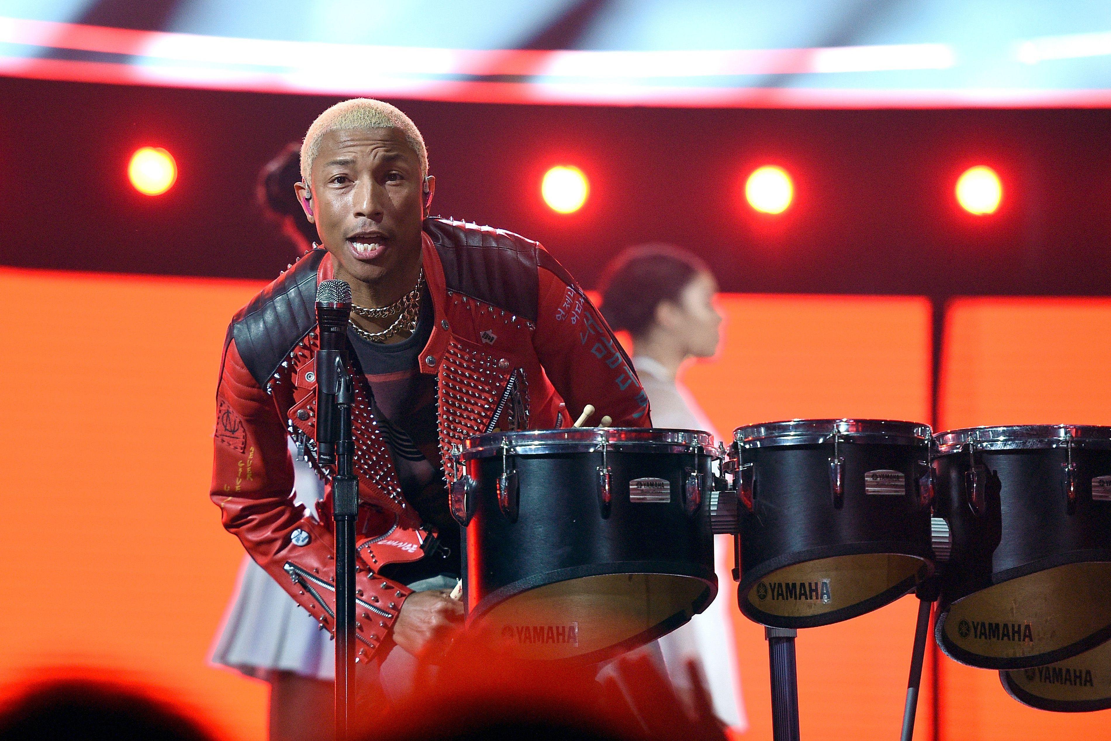 Pharrell at NBA All-Star Game 2018