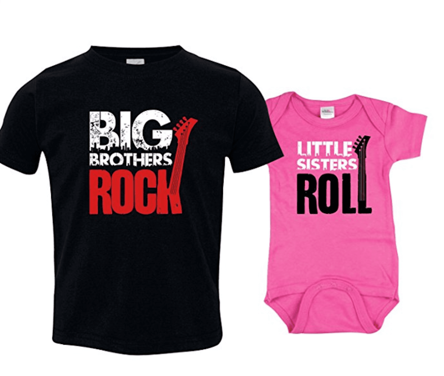 4bc197831795 Big Brothers Rock Sibling Shirts Set for Sisters and Brothers by Nursery  Decals and More. amazon.com