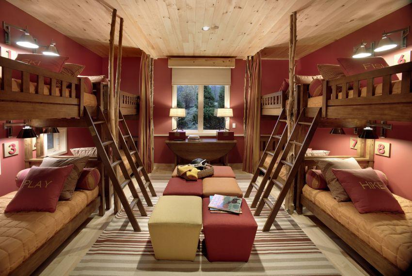 Photo of the ski dorm bedroom of the 2011 HGTV Dream Home.