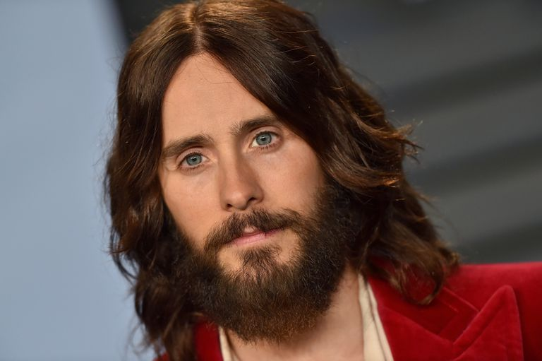 Jared Leto with long hair and a beard