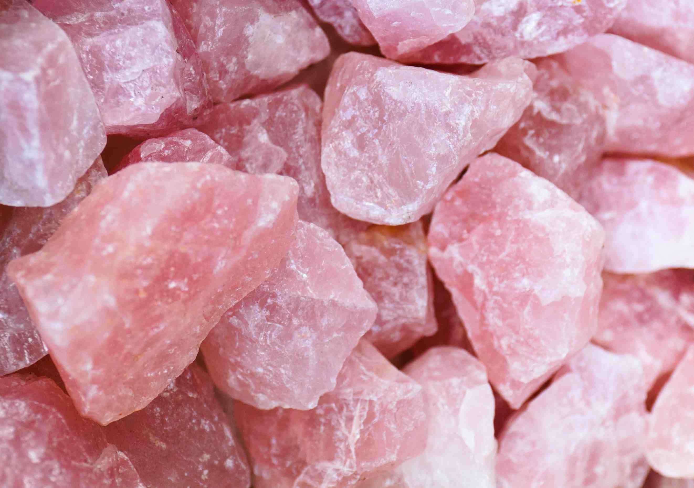 Real rose quartz