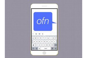 OFN message on a cellphone screen