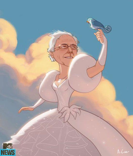 Bernie Sanders Disney Princess