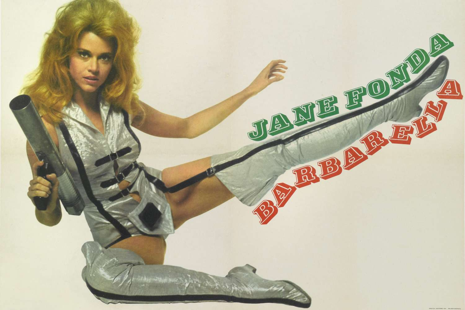 Image of actress Jane Fonda on the movie poster for the 1968 film 'Barbarella'
