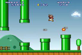 Screenshot of gameplay of Super Mario Forever