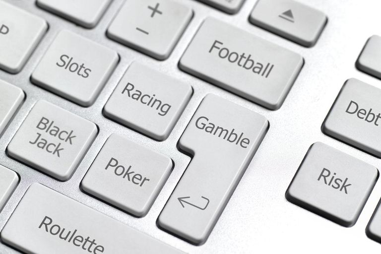 keyboard with gambling terms