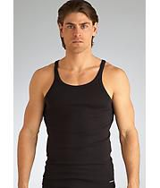 4d3ba0f16b232 This soft cotton tank by Emporio Armani has a slim fit and is tagless