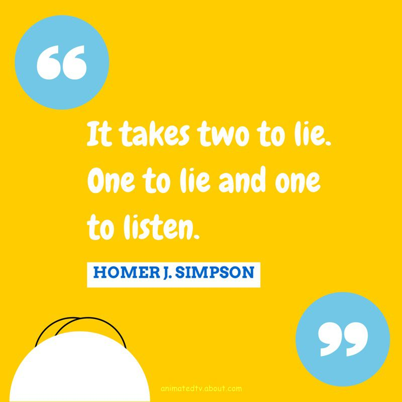 Homer Simpson quote about lying