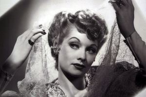 A vintage photo of comedian Lucille Ball