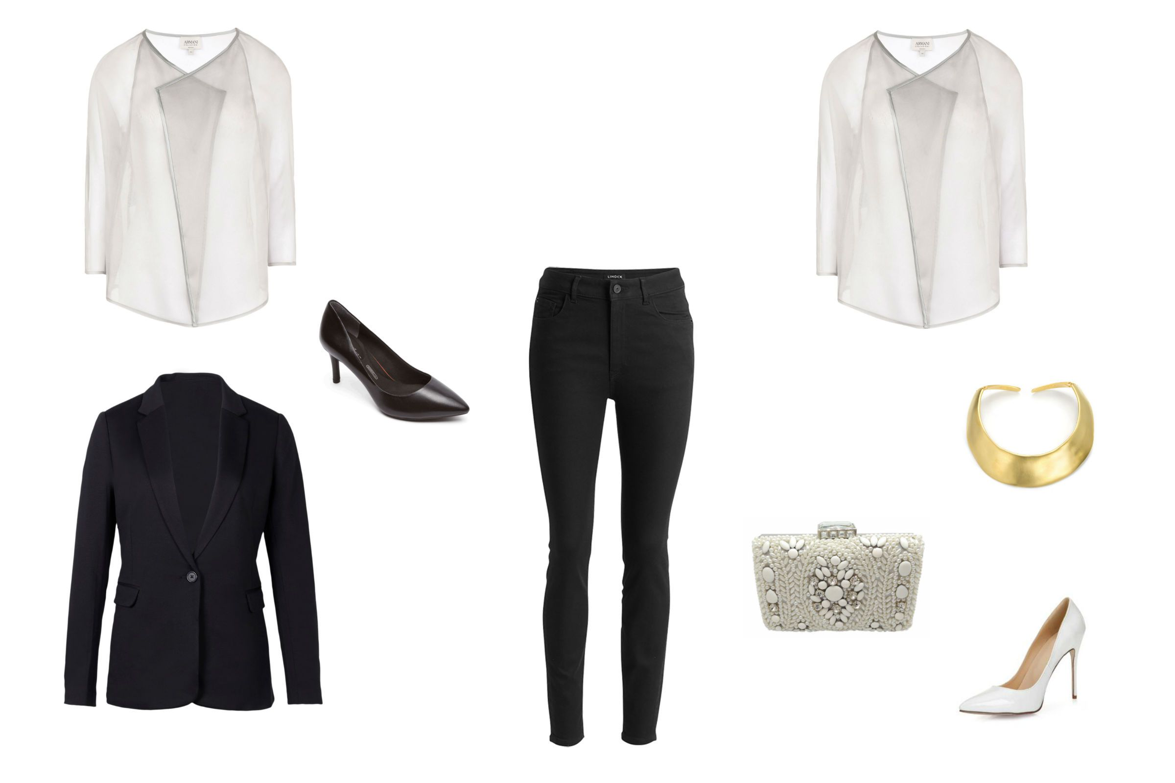 Day to night outfit with black skinny jeans