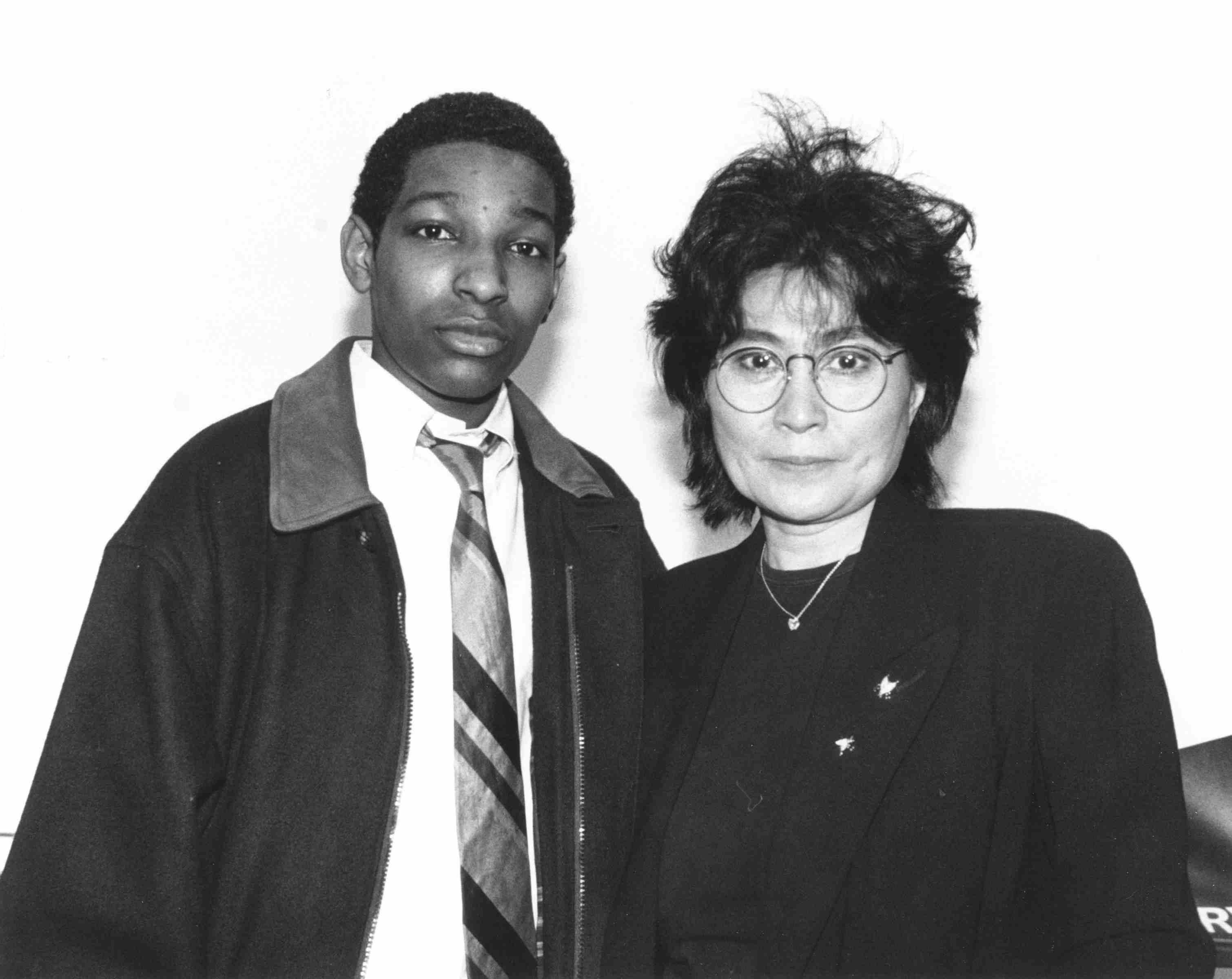 Chi-Ali with Yoko Ono 1992