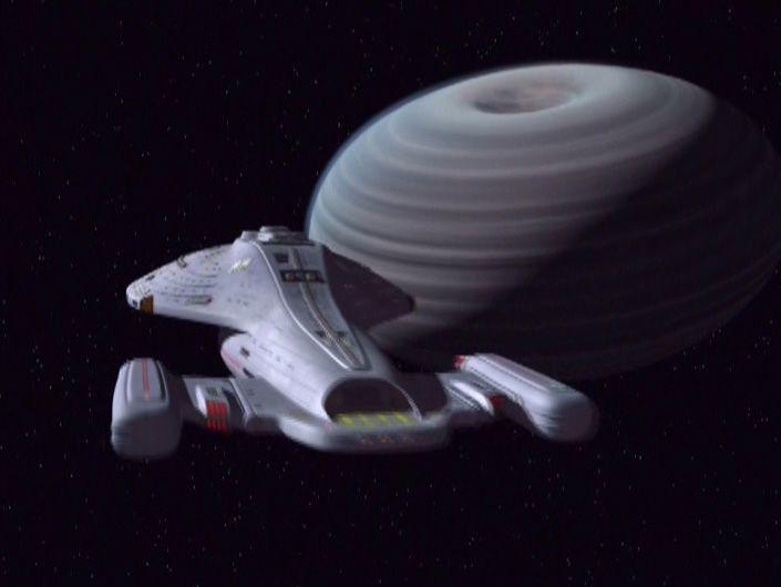 Voyager approaching tachyon planet