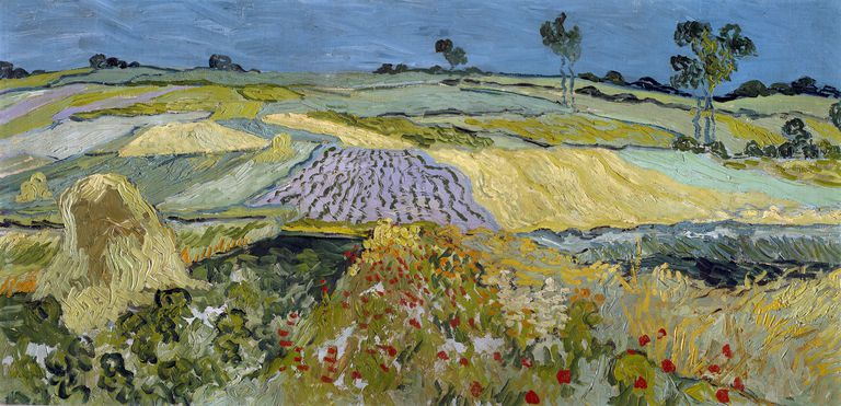 Wheatfields Near Auvers, by Vincent van Gogh