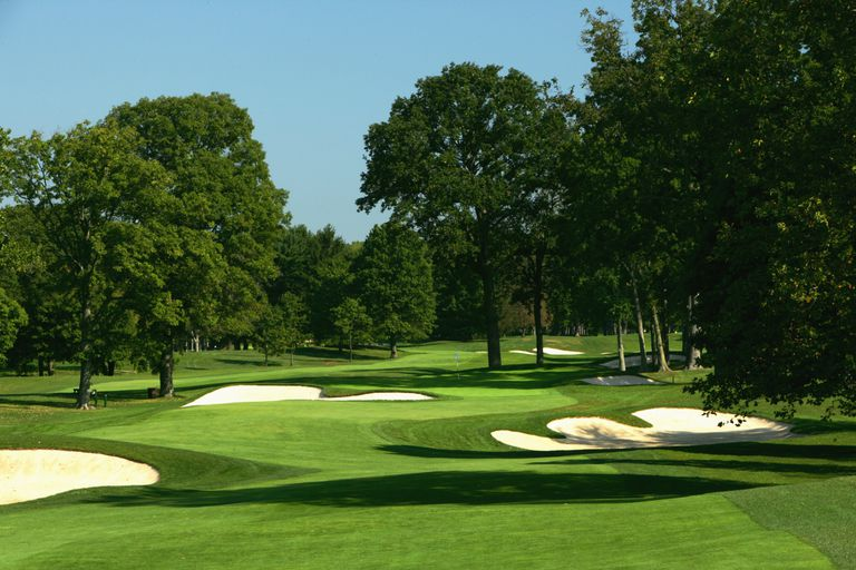 The 396 yard par 4, 11th hole 'Billows' on the West Course at Winged Foot Golf Club