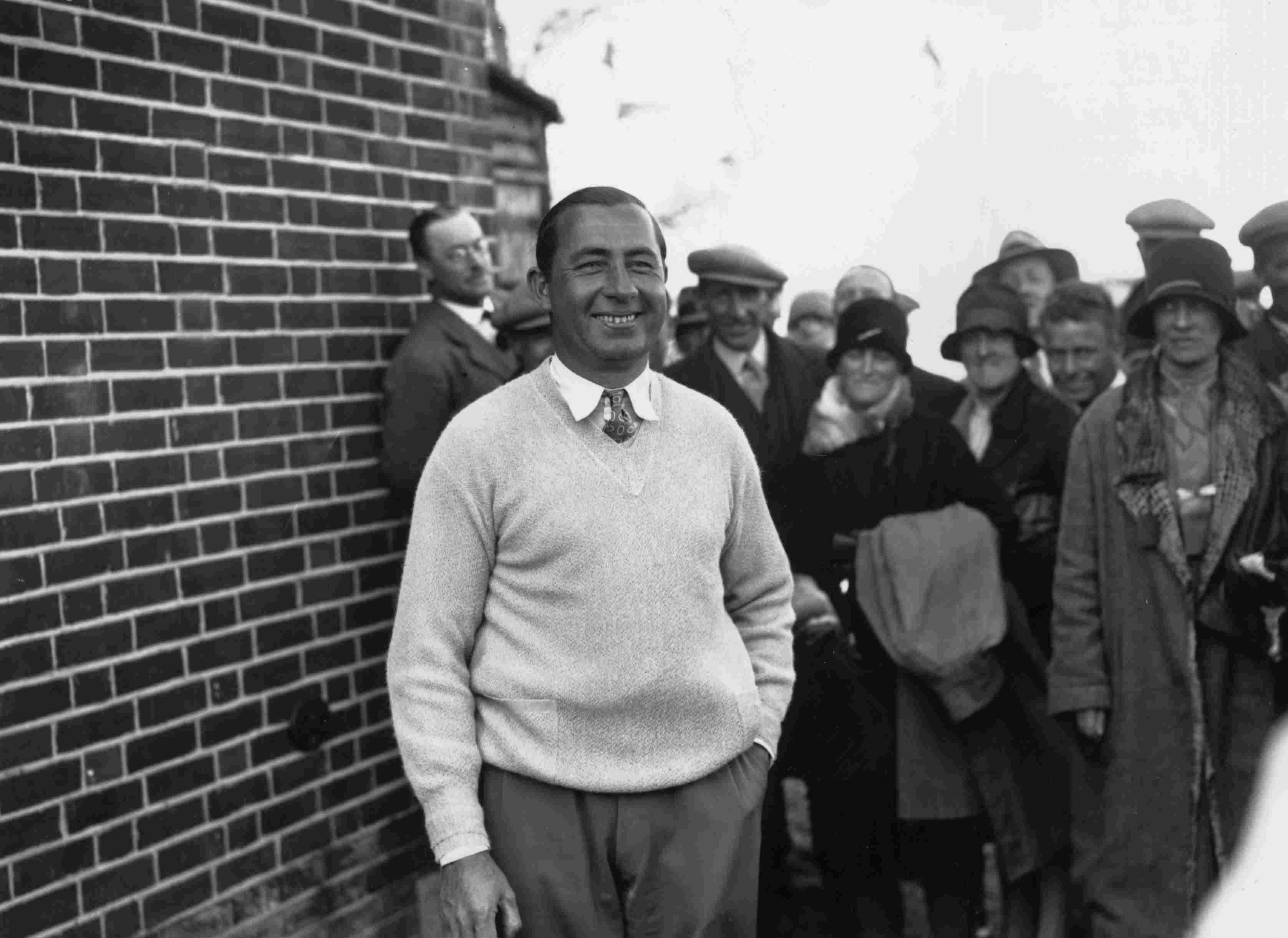 Golfer Walter Hagen pictured in 1928.