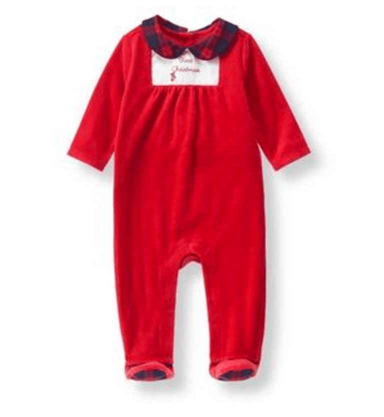 d0eca5d592 20 Adorable Baby s First Christmas Outfits