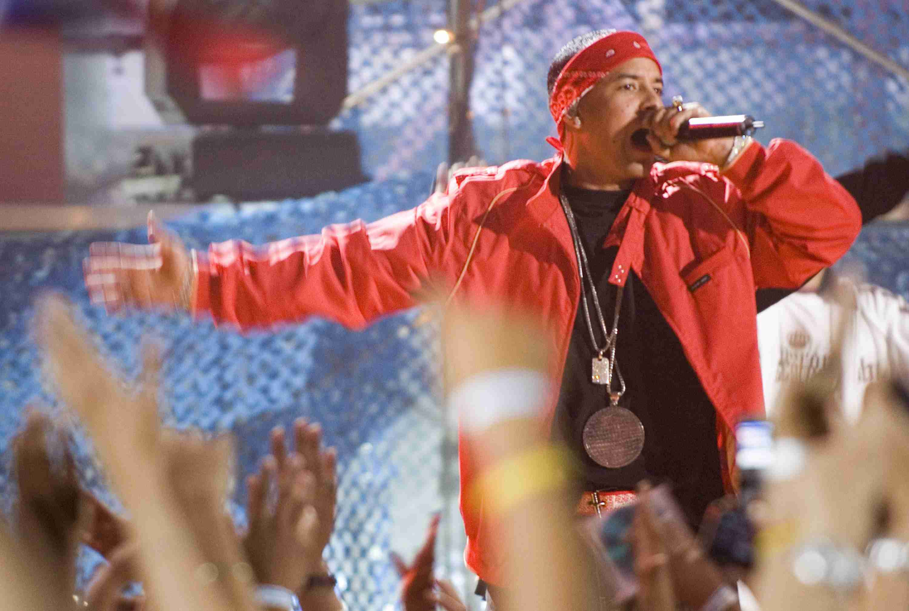 Daddy Yankee during Daddy Yankee Performs at MTV $2 Bill Concert at the Paradise Theater in New York - June 5, 2006 at Paradise Theater in New York, New York, United States.