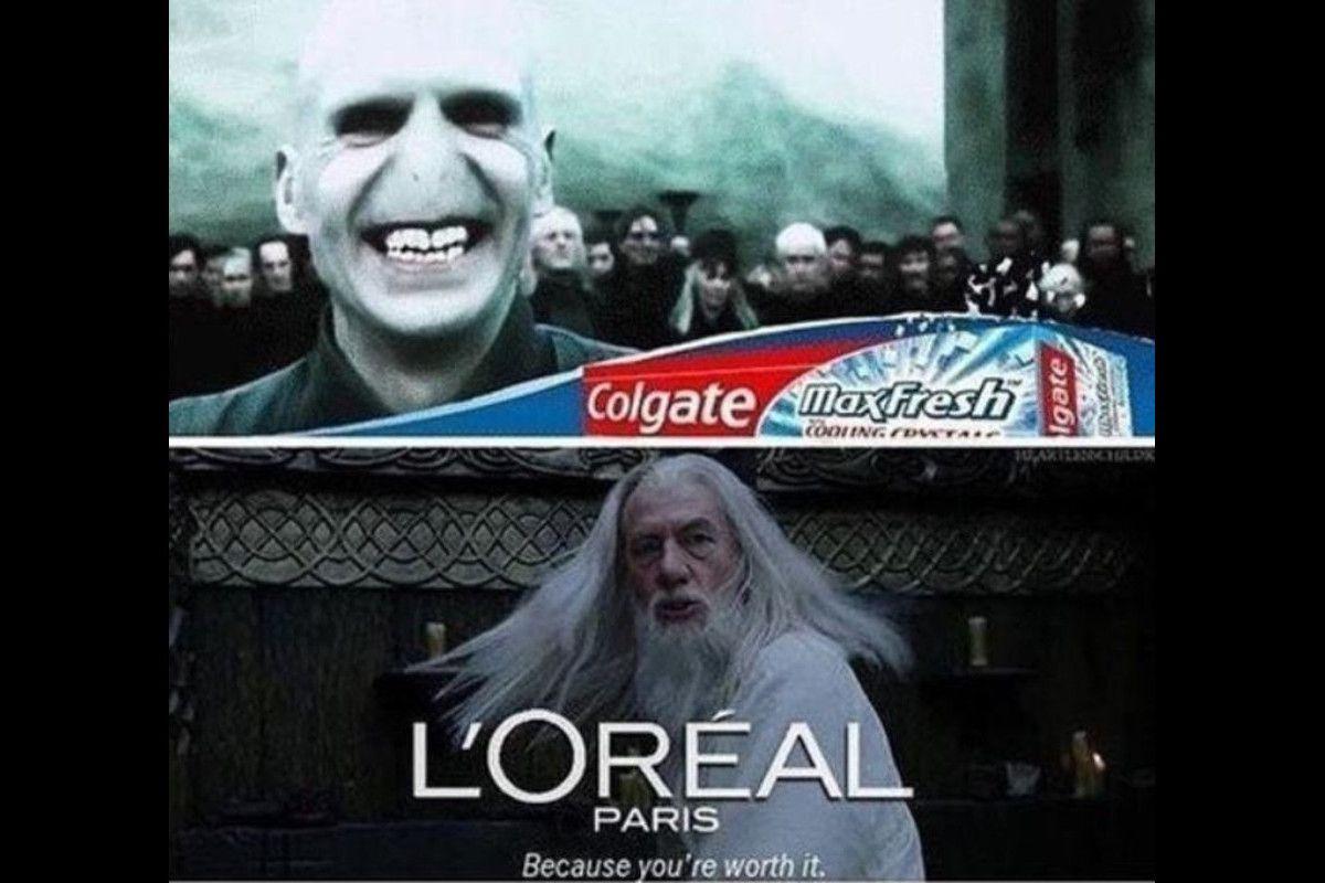 Harry Potter, Voldemort, and Dumbledore meme