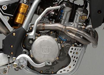 The Husqvarna TC510's engine.