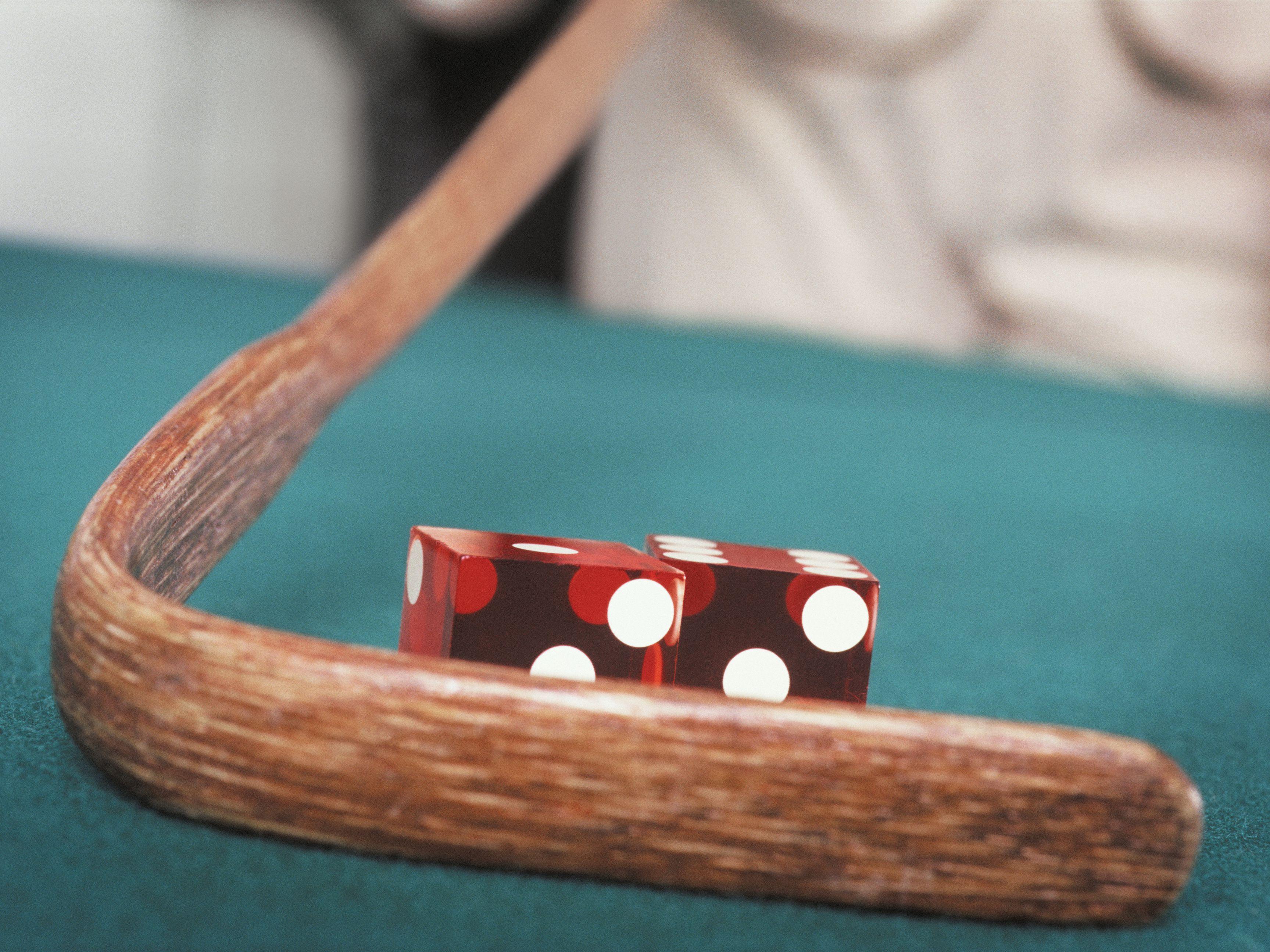 Blackjack roulette craps table