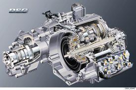 Volkswagen dual-clutch transmission cutaway
