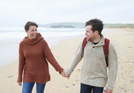 Couple together on beach