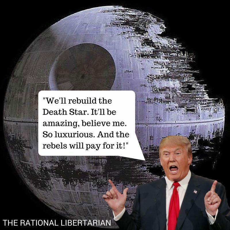 Trump on rebuilding the Death Star