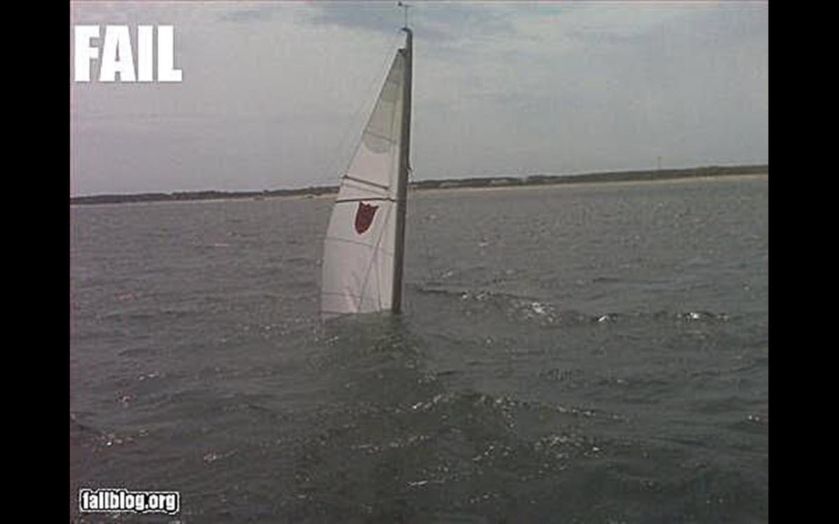 Epic Fail viral meme featuring a sinking sailboat.