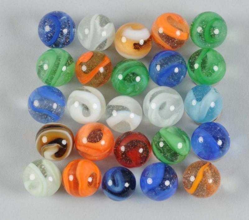 Machine Made Swirl Marbles