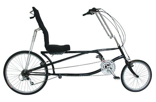 Photo of a recumbent bicycle.
